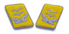WW2 German Luftwaffe Officer Collar Tabs (1st Lieutenant/Oberleutnant)
