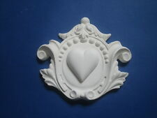 DECORATIVE ORNATE CENTER MOULDING FIRE PLACE MIRROR FURNITURE WHITE PLASTER