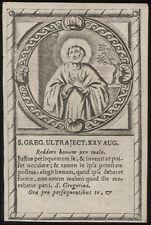 santino incisione 1600 S.GREGORIO DI UTRECHT