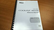 NIKON COOLPIX AW110 CAMERA PRINTED INSTRUCTION MANUAL USER GUIDE 252 PAGES