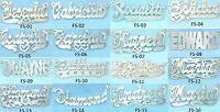 PERSONALIZED 14K GOLD PLATED  SINGLE NAME PLATE (16 STYLES ) FREE CHAIN & SHIP