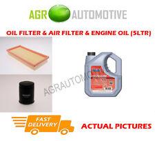PETROL OIL AIR FILTER KIT + FS 5W40 OIL FOR FIAT STILO 1.4 95 BHP 2004-06