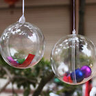 20 PACK 5CM CLEAR PLASTIC BAUBLES OPENING FILLABLE BALLS CHRISTMAS DECORATION
