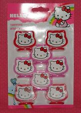 Hello Kitty CupCake Toppers,Plastic,Wilton,2113-7575,Pink, Red,Cake Decoration