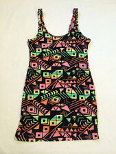 Victoria's Secret Pink M Tribal Southwest Print Bodycon Mini Dress Stretch