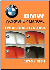 BMW Workshop Manual R100 R80 R75 R60 1976 1977 1978 1979 1980 1981 1982 1983 on