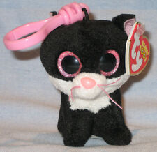 TY BEANIE BOOS - PEPPER the CAT KEY CLIP - MINT with MINT TAGS