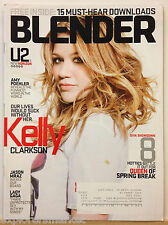 BLENDER MAGAZINE KELLY CLARKSON AMY POEHLER JASON MRAZ LADY GAGA U2 APRIL 2009!!