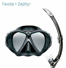 KIT COMBO SET MASCHERA FAVOLA + AREATORE ZEPHYR BLACK AQUA LUNG TECHNISUB