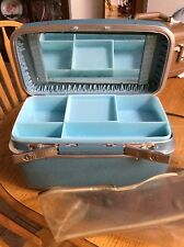 Vintage RoyalTraveller Cosmetic Train Case & small suitcase luggage