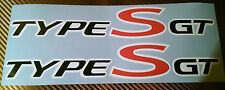 Honda Civic Type S GT Side Skirt Decals stickers  x 2 (1 pair)