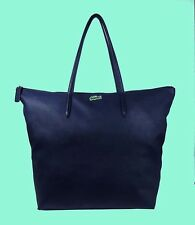 LACOSTE CONCEPT TRAVEL  Navy Blue Nylon & Leather Tote Bag MSRP $118
