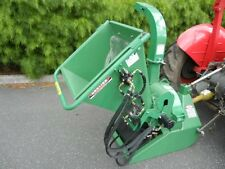 "HAYES PTO TRACTOR WOOD CHIPPER MULCHER 4"" HYDRAULIC FEED - 3 POINT LINKAGE"