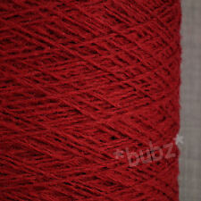 RENNIES PURE SHETLAND WOOL 4 PLY CRIMSON RED 500g CONE 10 BALL KNIT WEAVING YARN