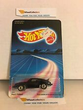 #5 P-911 Turbo Porsche 3968 * BLACK * 1986 Hong Kong * Vintage Hot Wheels * E20