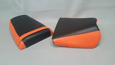 Suzuki SV Seat Cover Set SV1000 03-2010 2-tone BLACK & ORANGE or 25 COLORS  (ps)