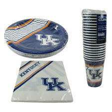 New NCAA Kentucky Wildcats 60 Paper Plates Cups Napkins Party-Ware Supplies