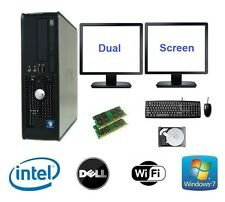 Dell dual cpu 8GB ram 160GB hdd windows 7 desktop pc ordinateur dual screen bundle