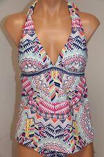 NWT  Bar III Swimsuit Bikini Tankini 2pc Set Size XL Talula Indigo Halter Side