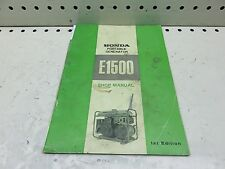 1969 HONDA E1500 PORTABLE GENERATOR SHOP SERVICE MANUAL  (HSM-199)