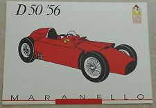 Ferrari Galleria 1991 D50 F1 1956 Card Karte brochure prospekt book buch press