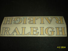 2 AUTHENTIC NOS RALEIGH YELLOW/BLACK OUTLINE BIKE FRAME STICKERS #13 DECALS