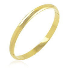 Simple Wristband Authentic14K Gold Filled Womens Bangle Smooth Cuff Bracelet