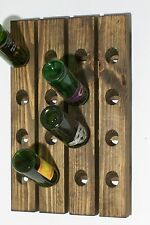 Wood Riddling Rack Handmade Wall Hanging Wine Rack