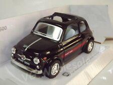 """Fiat 500 Sport Black Die Cast Metal Model Car 5"""" Kinsmart Collectable New"""
