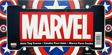 Marvel Comics Captain America Shield Black Plastic Car Auto License Plate Frame