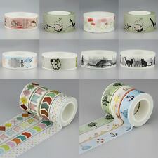 A Roll New Washi Sticky Paper Masking Adhesive Decorative Tape Label DIY Craft