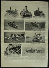 1908 Steam Tractor With New Caterpillar Engine Chain Tracks 1 Page Photo Article