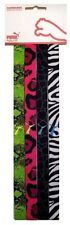 "4x Puma Women 1/2"" Multi-Colored NEON Headbands Elastic Gym Sport Hair Bands NEW"