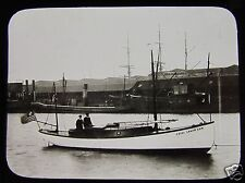 Glass Magic Lantern Slide ABIEL ABBOT LOW MOTOR BOAT C1902 NEW YORK TO ENGLAND