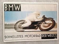 BMW Schnellstess Motorad Racing 1st On eBay Car Postcard. Rare!Own It!