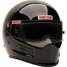 SIMPSON RACING BANDIT HELMET MED #6200022 reg. BLACK SA2015 SFI HEAD/NECK READY