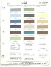 1973 CHRYSLER AND IMPERIAL PPG  COLOR PAINT CHIP  MOPAR