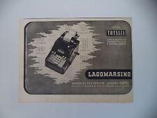 advertising Pubblicità 1942 ADDIZIONATRICE TOTALIA LAGOMARSINO