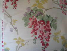 LAURA ASHLEY WISTERIA CRANBERRY FLORAL COTTON FABRIC MATERIAL