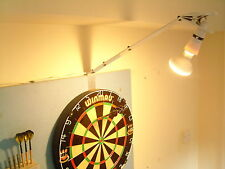 DARTBOARD - POWERFUL SPOT LIGHT KIT, FAST SET UP-HOME / PUB USE. DARTS LIGHTING