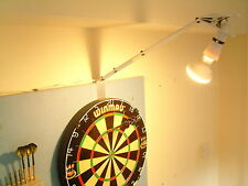 DARTBOARD - POWERFUL SPOT LIGHT KIT, FAST SET UP HOME / PUB USE. DARTS LIGHTING