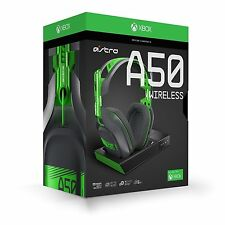 NEW ASTRO Gaming A50 Wireless Dolby Gaming Headset - Xbox one/PC Black Green