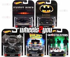Damaged - SET OF 5 - 2017 Hot Wheels Retro Entertainment A Case KITT Ecto