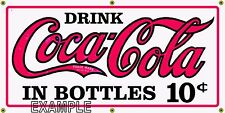 COCA COLA RETRO VINTAGE OLD SCHOOL SIGN REMAKE BANNER ART GARAGE SHOP BAR 2X4