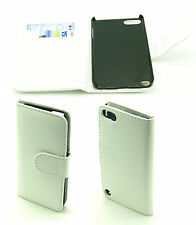 Elegant White/Cream Protective Leather Wallet Case Cover Apple iPod Touch 5 Gen