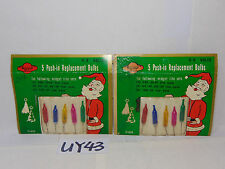 2 PACKAGES OF PUSH-IN REPLACEMENT CHRISTMAS LIGHT BULBS MIDGET LITE MULTI COLOR
