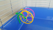 Carousel Reel Plastic Jogging Hamster Mice Rodents Gerbil Cage With Holder 13cm