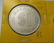 MALAYSIA  RM1 coin Parliament 1971 x 2pcs HIGH GRADE (London & Shah Alam Mint)