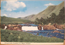 Irish Postcard AASLEAGH FALLS Leenane Mayo Connemara Ireland Penman 1972 to UK