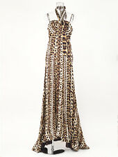 New Roberto Cavalli Evening Leopard Gown Dress Size 42 US 8